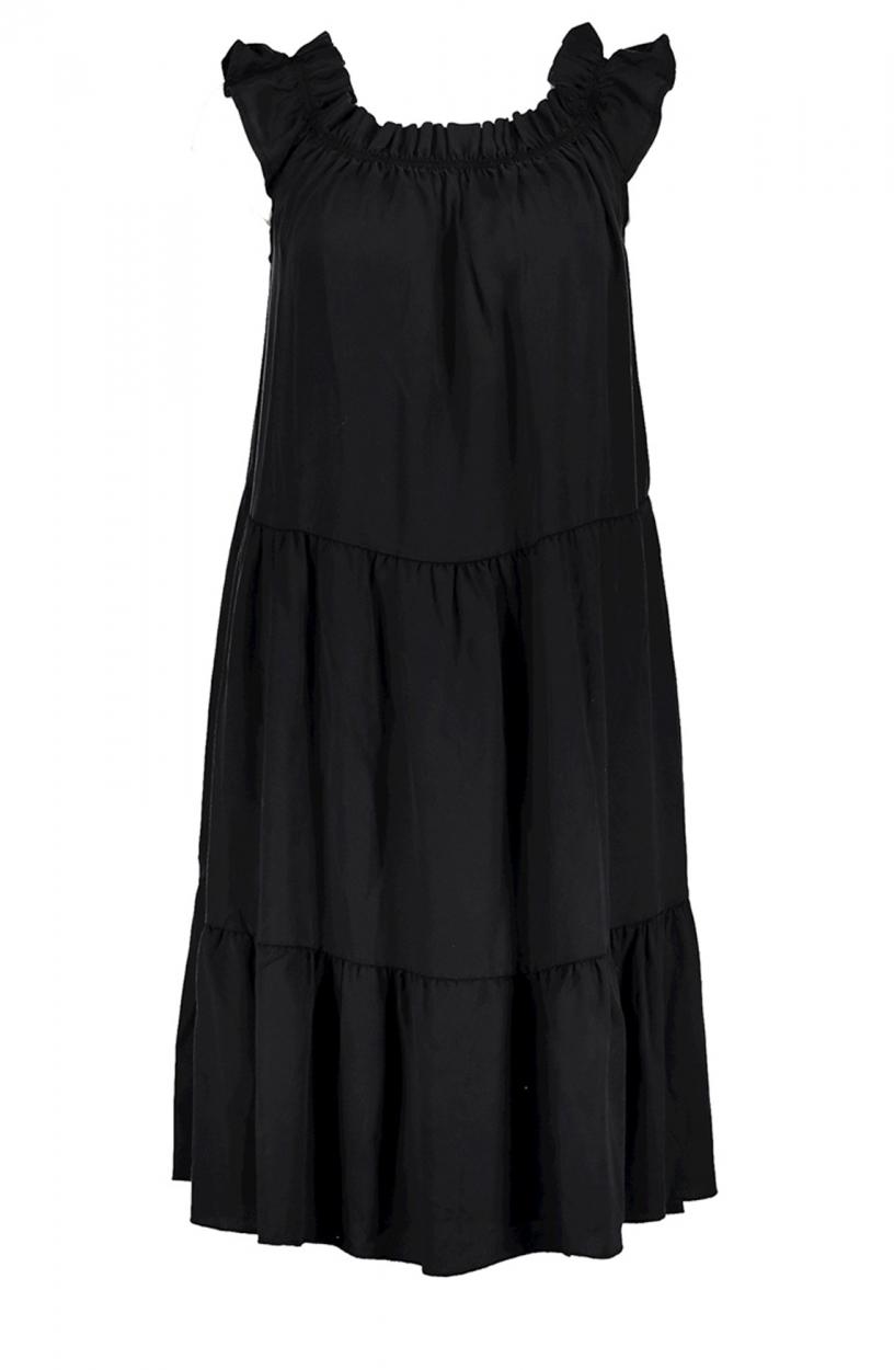 Geisha Dames Volant jurk Zwart