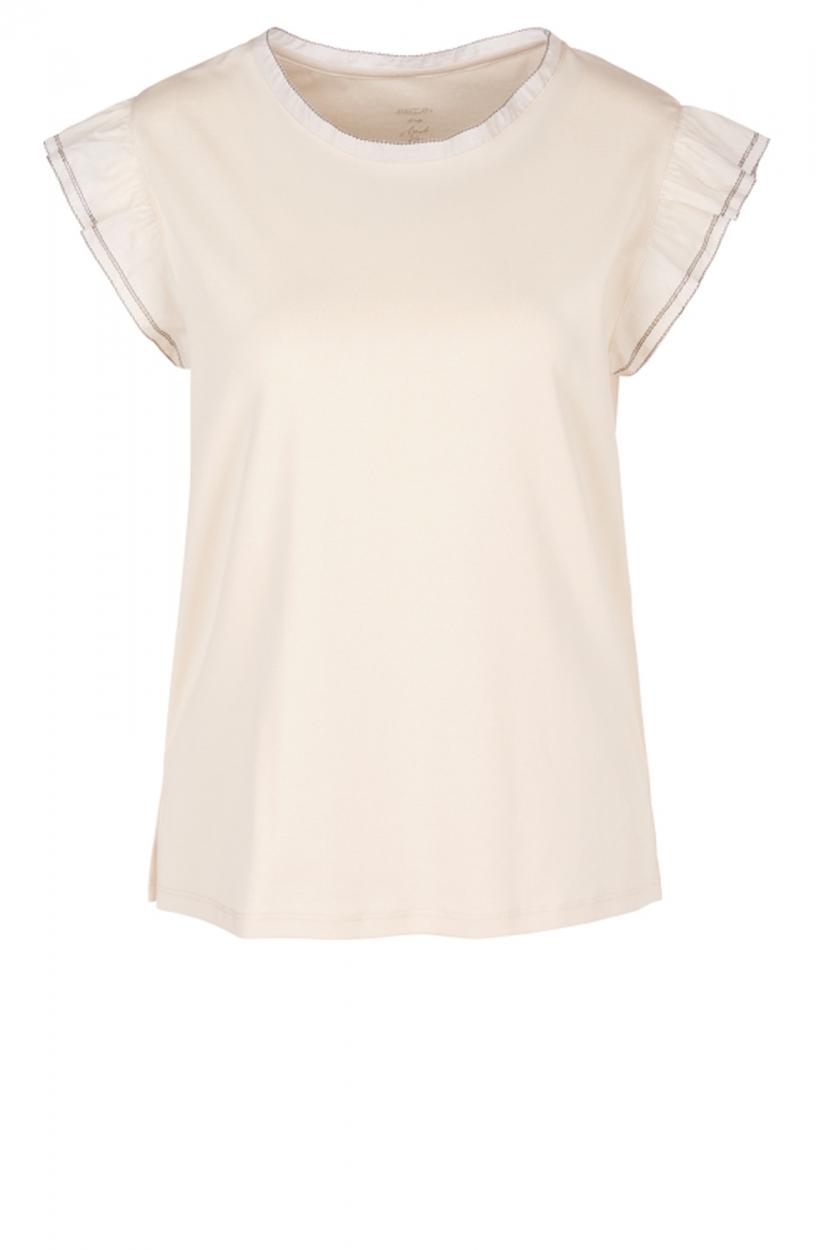 Marccain Dames Shirt met volantmouw Wit