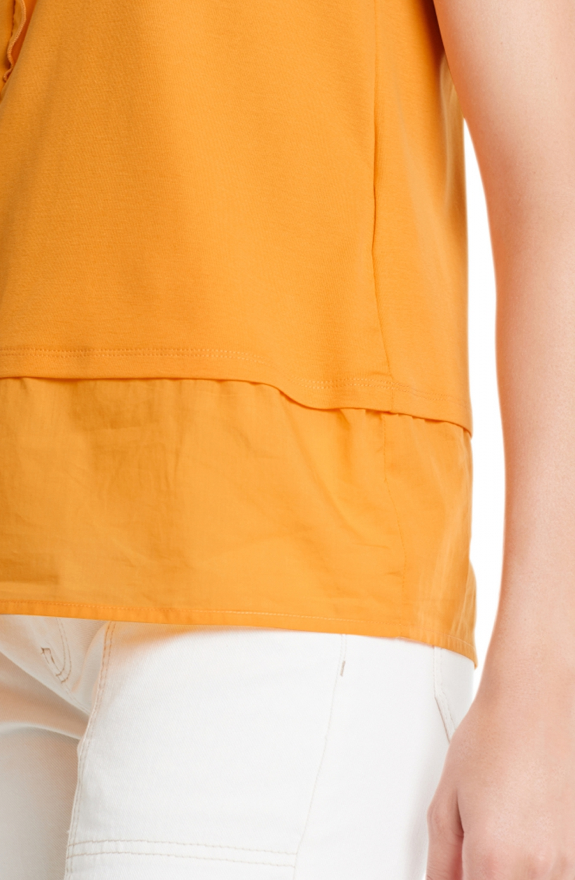 Marccain Dames Volant top Geel