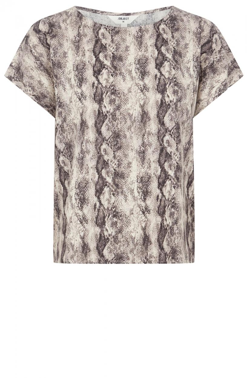 Object Dames Hannah shirt Bruin