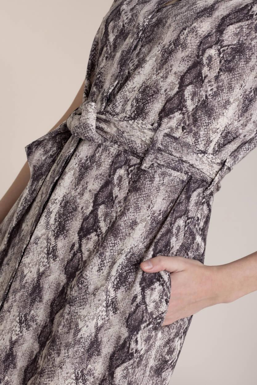 Object Dames Hannah jurk Bruin