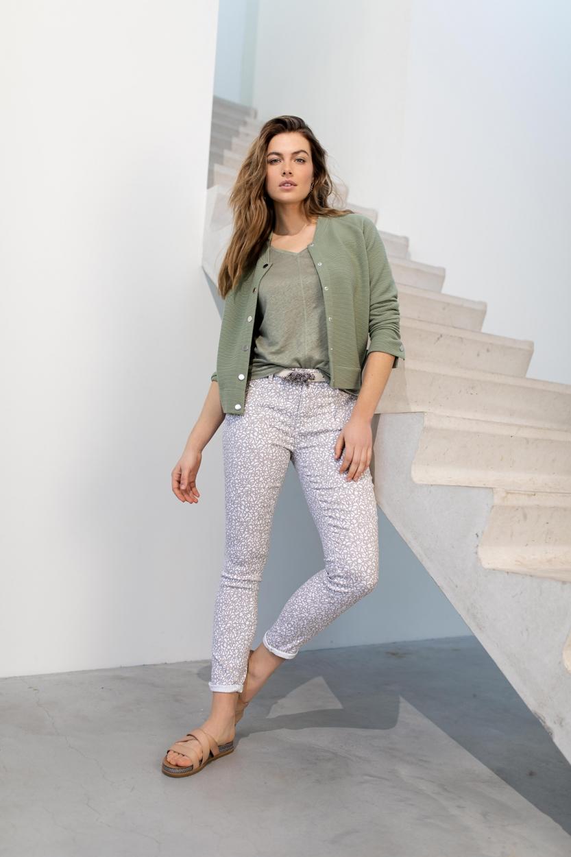 Rosner Dames L30 Antonia print jeans Blauw