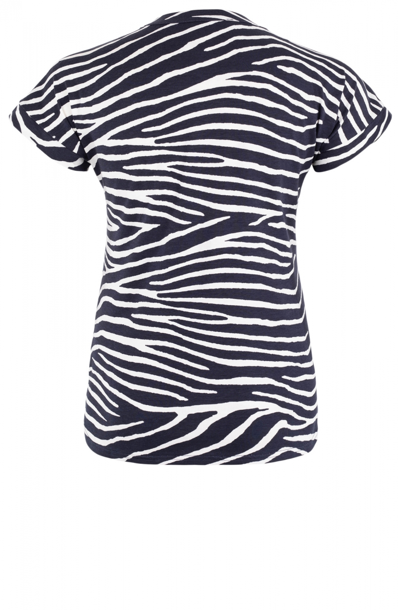 Geisha Dames Zebraprint shirt Wit