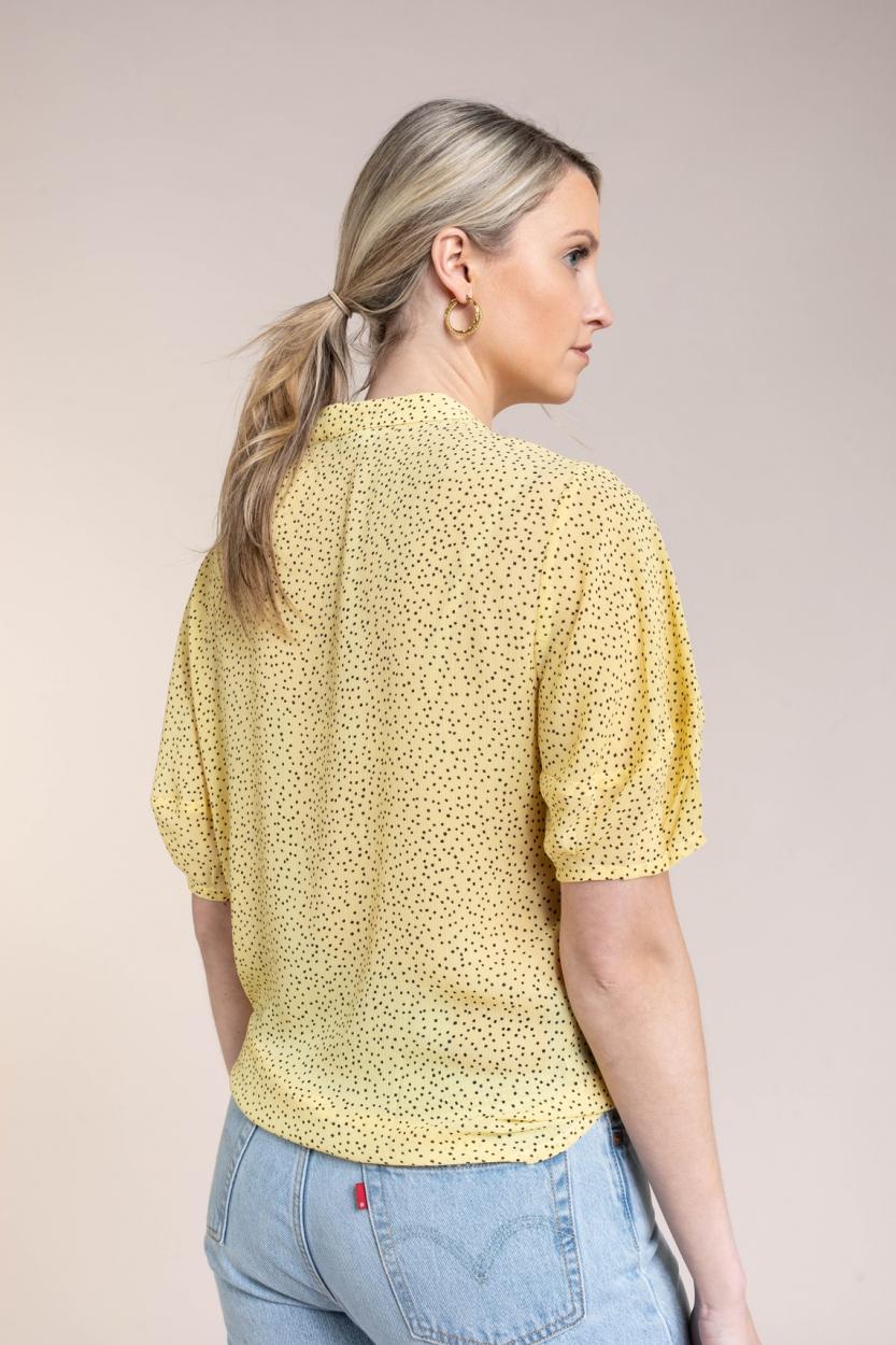 Moss Copenhagen Dames Linoa Rikkelie blouse Geel
