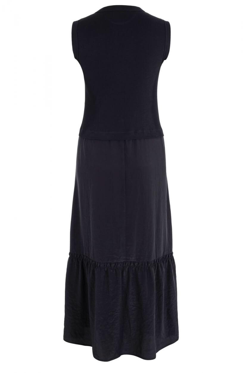 Marccain Sports Dames Materiaalmix jurk Zwart