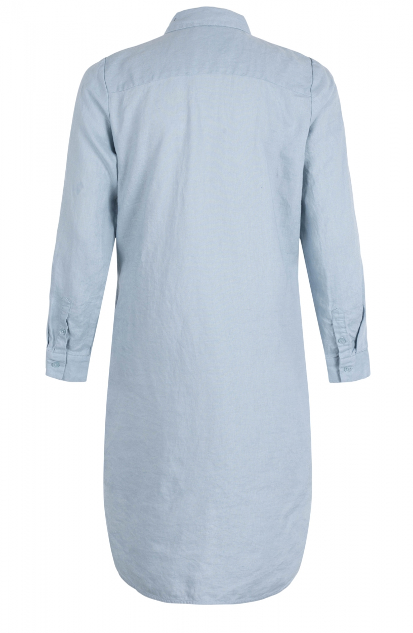Emotions Dames Linnen jurk Blauw