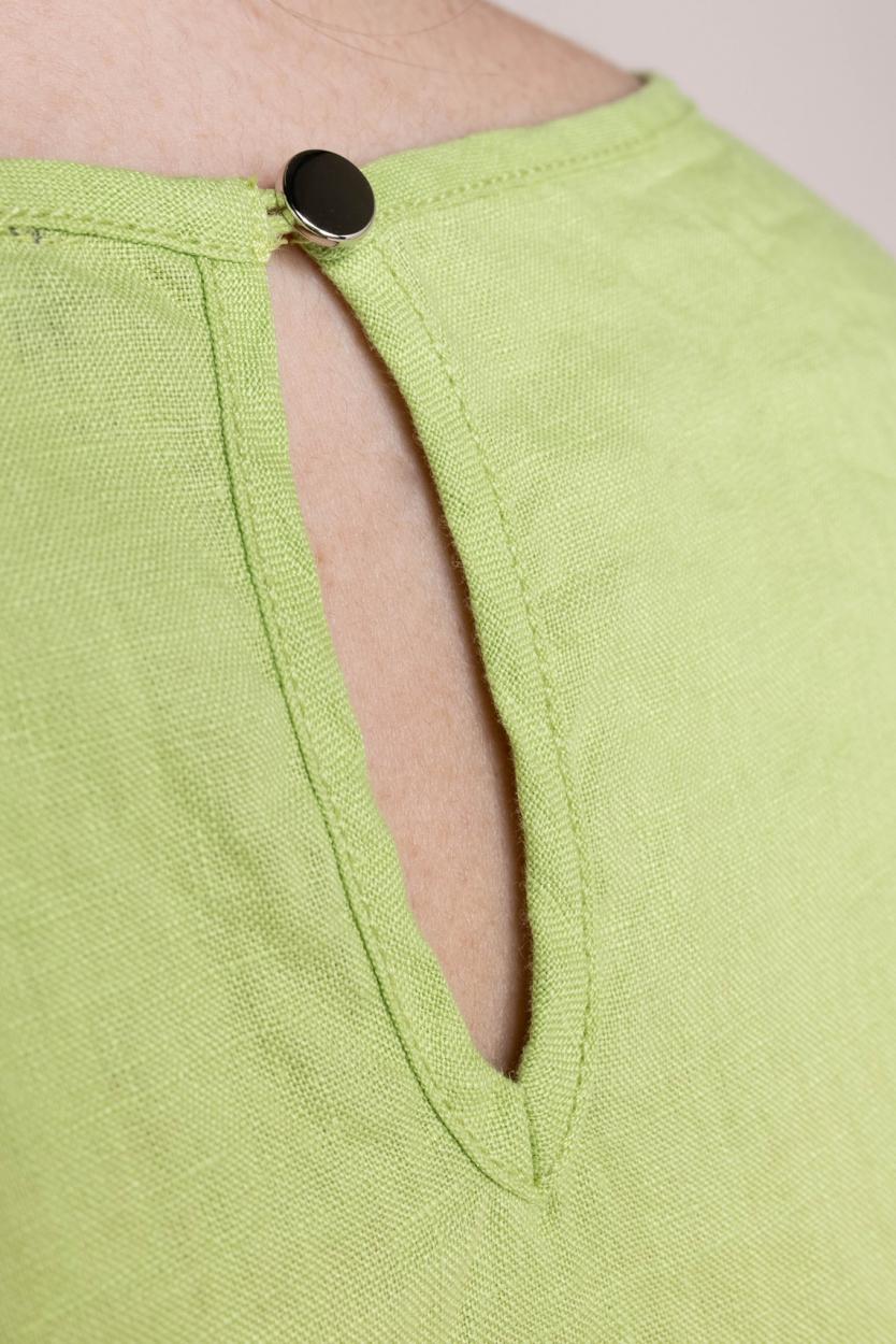 Emotions Dames Jurk met kantdetail Groen