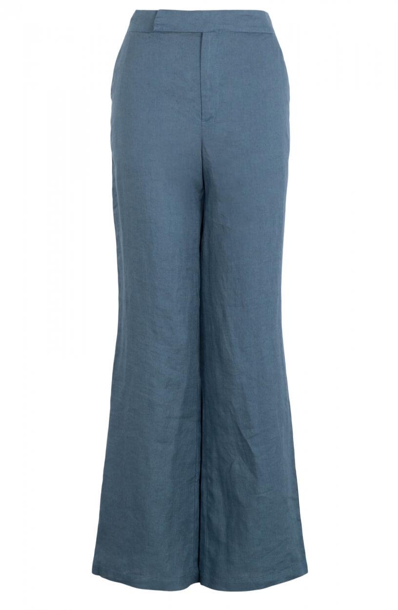 Emotions Dames Linnen pantalon Blauw