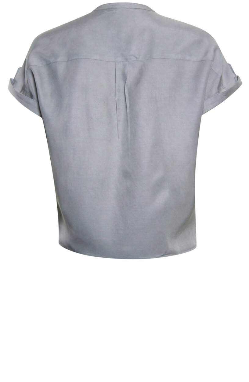 Poools Dames Tencel blouse Grijs