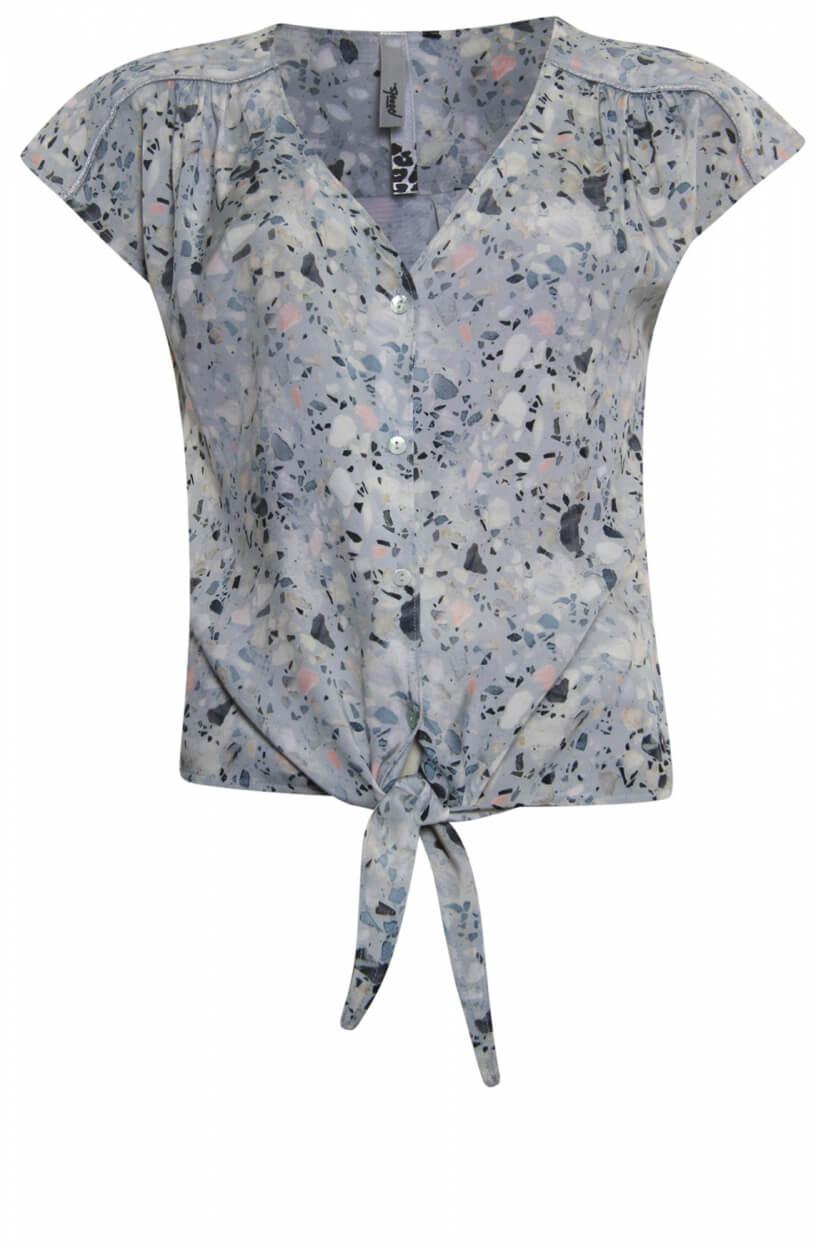 Poools Dames Blouse met knoopdetail Roze