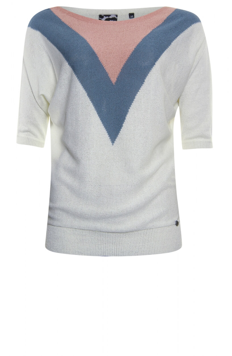 Poools Dames Pullover Wit