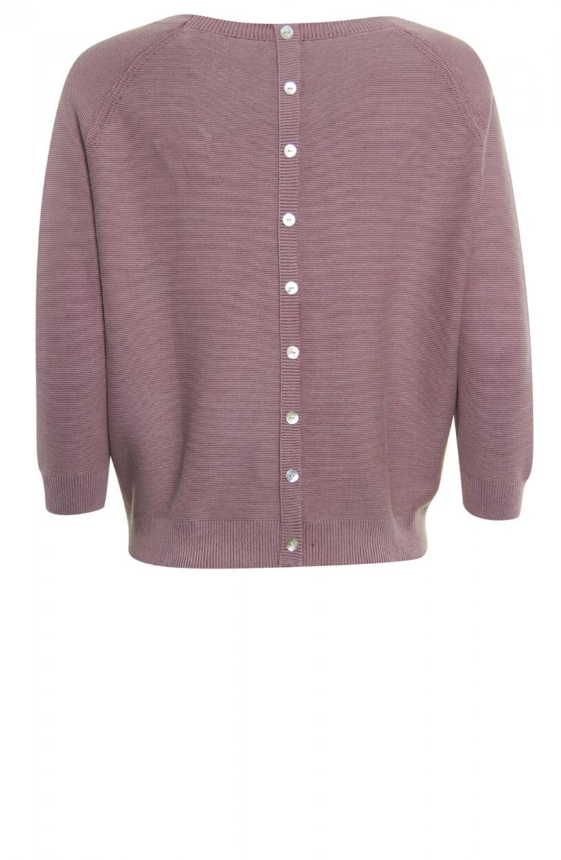 Poools Dames Pullover met sierknopen Roze