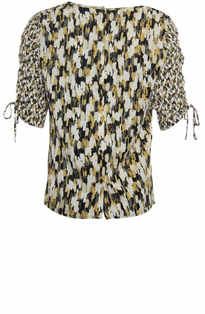 Poools Dames Shirt met strikdetail Wit