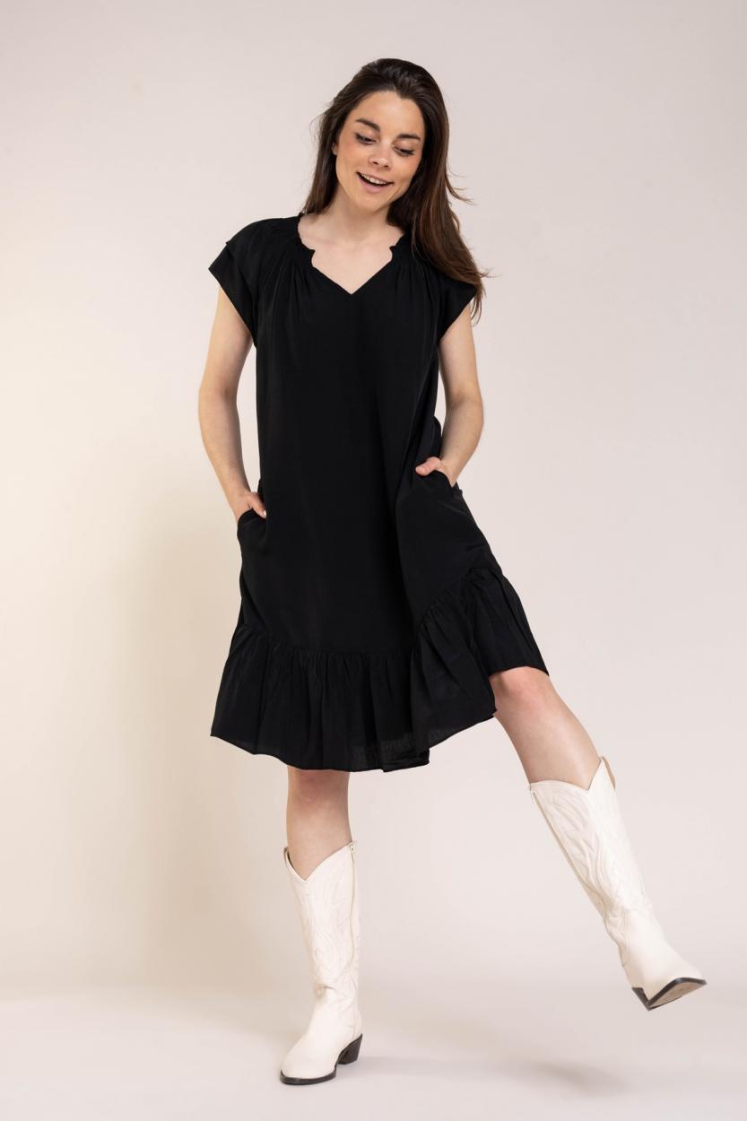 Co Couture Dames Sunrise jurk Zwart