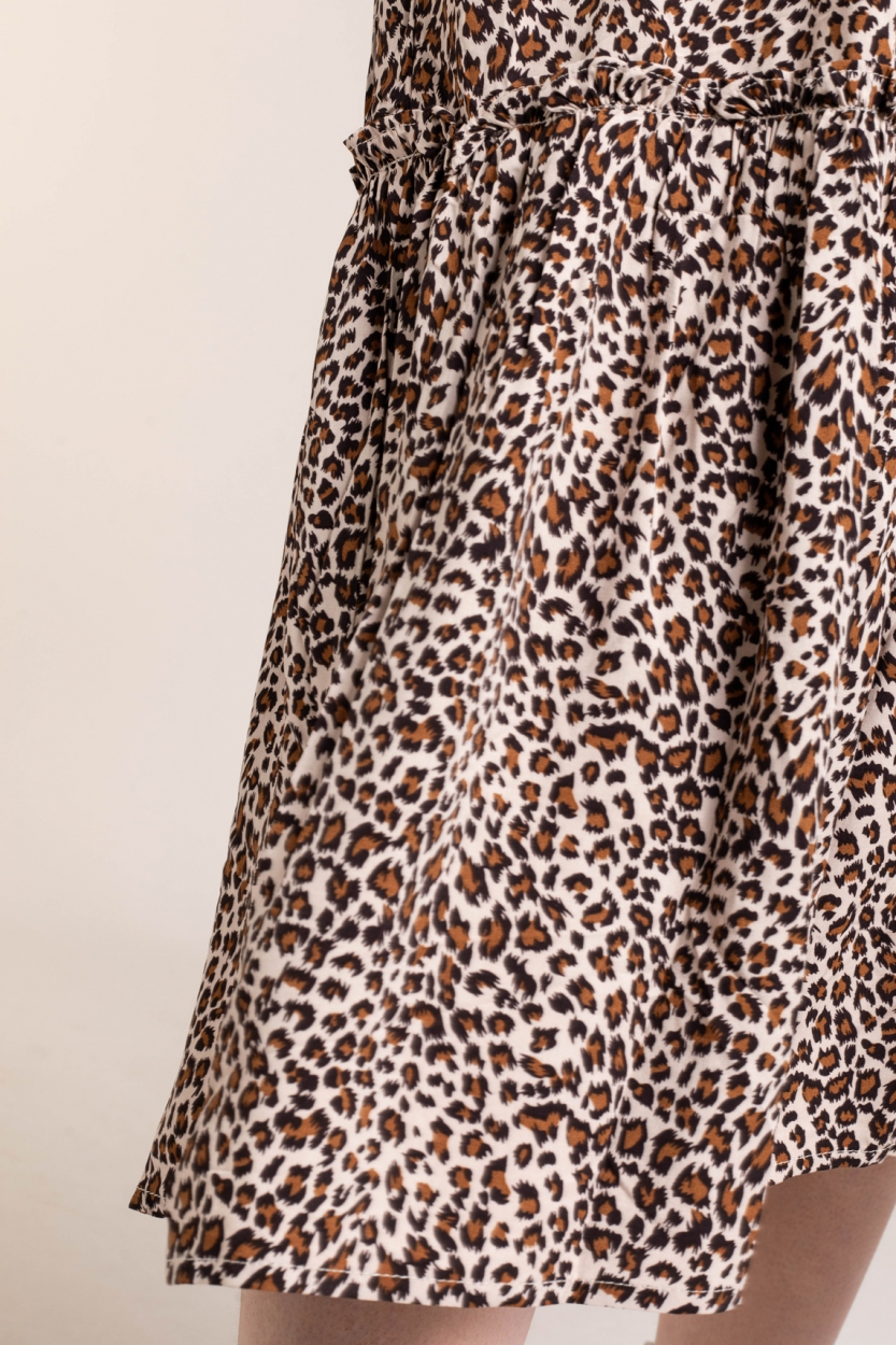 Co Couture Dames Leopard jurk Bruin