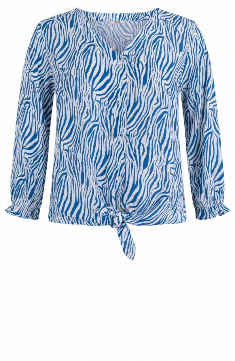 Anna Dames Animal blouse Blauw