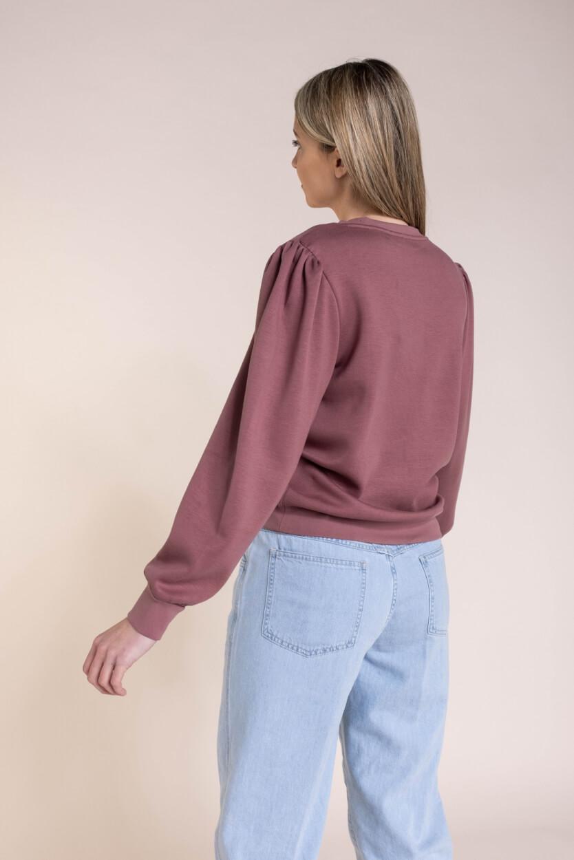 Moss Copenhagen Dames Ima puff sweater Roze