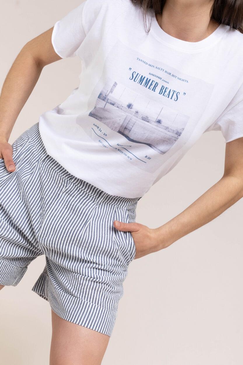 Set Dames Shirt met opdruk Wit
