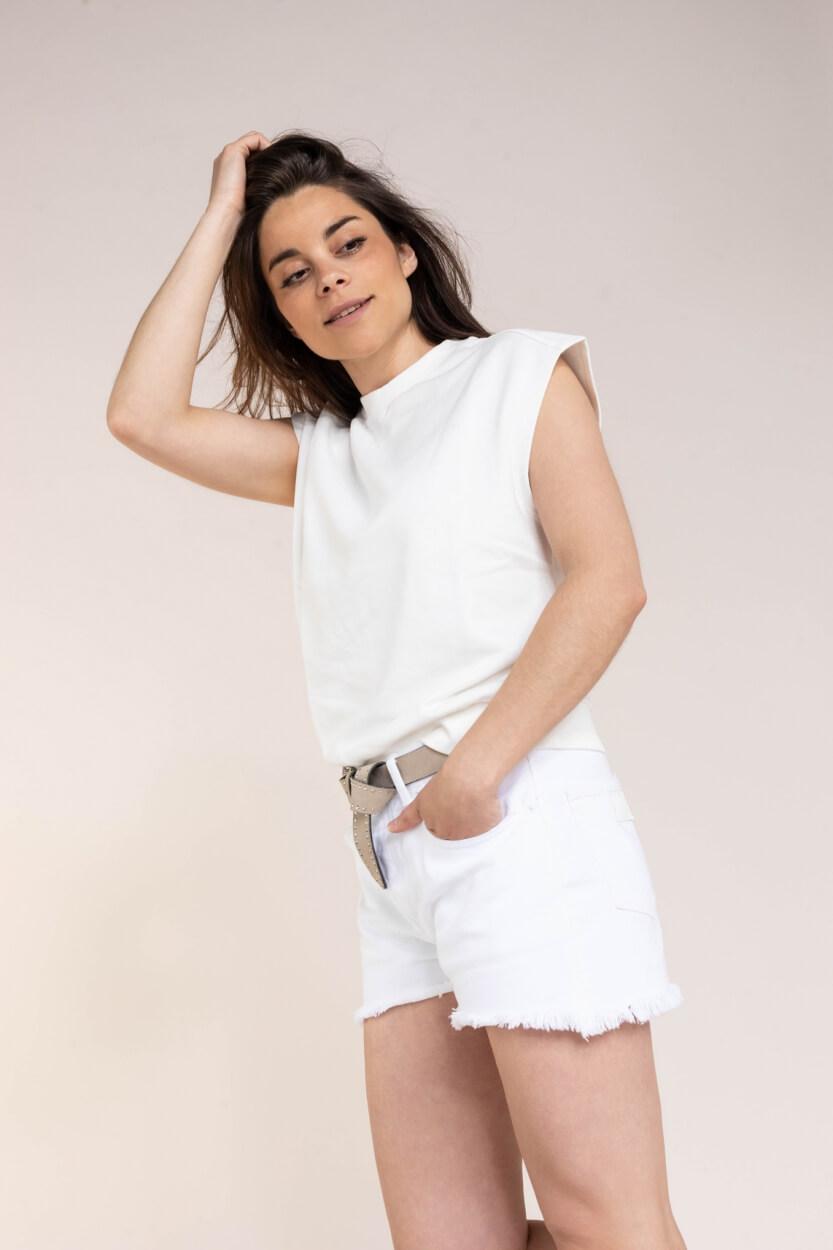 Set Dames Boxy shirt Wit