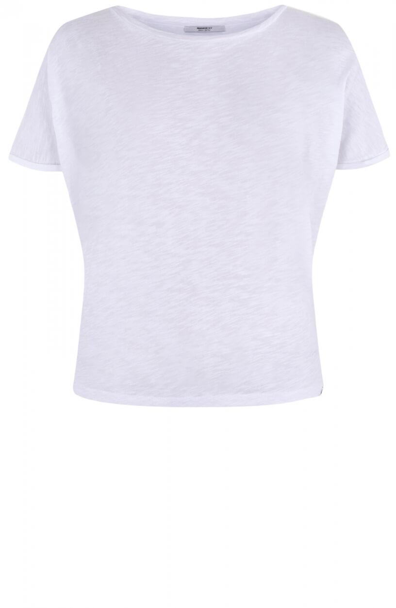 Penn & Ink Dames Shirt met print Wit