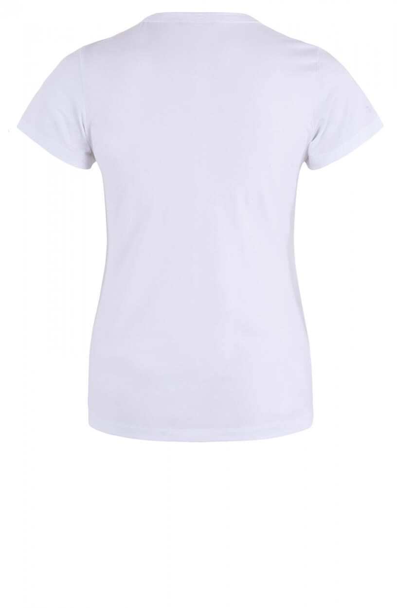 Calvin Klein Dames Shirt met V-hals Wit