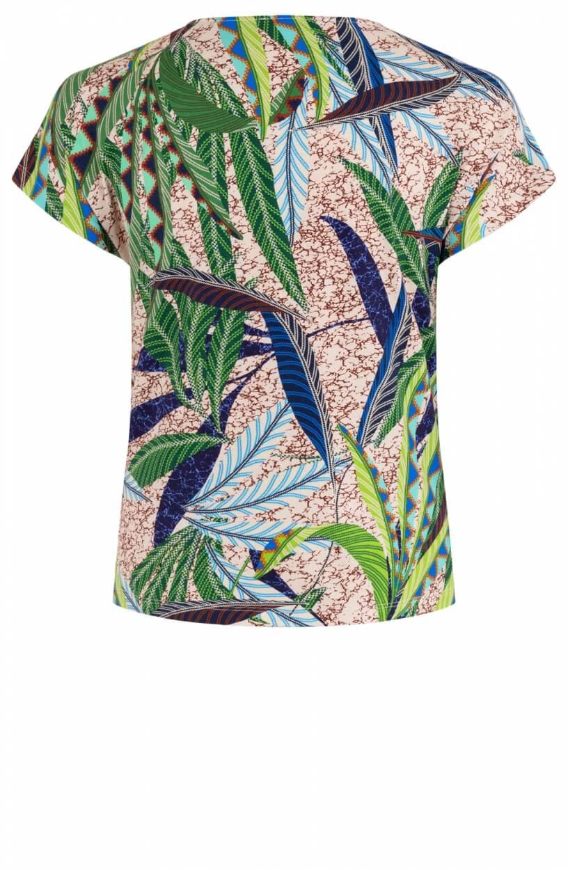 Anna Dames Shirt met bladprint Groen