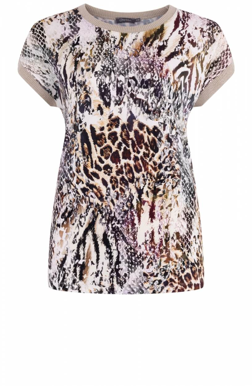 Geisha Dames Shirt met print Wit