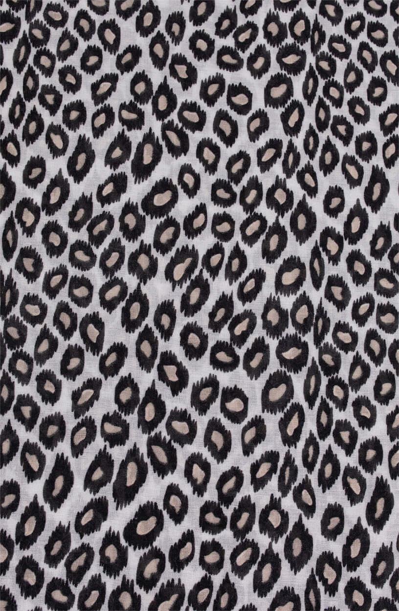 Zo Dames Sjaal met panterprint Zwart