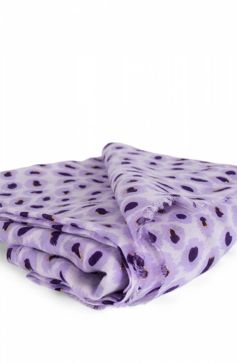 Zo Dames Sjaal met panterprint Paars