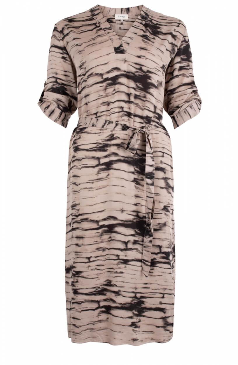 Levete Room Dames Noelle jurk met ceintuur Bruin
