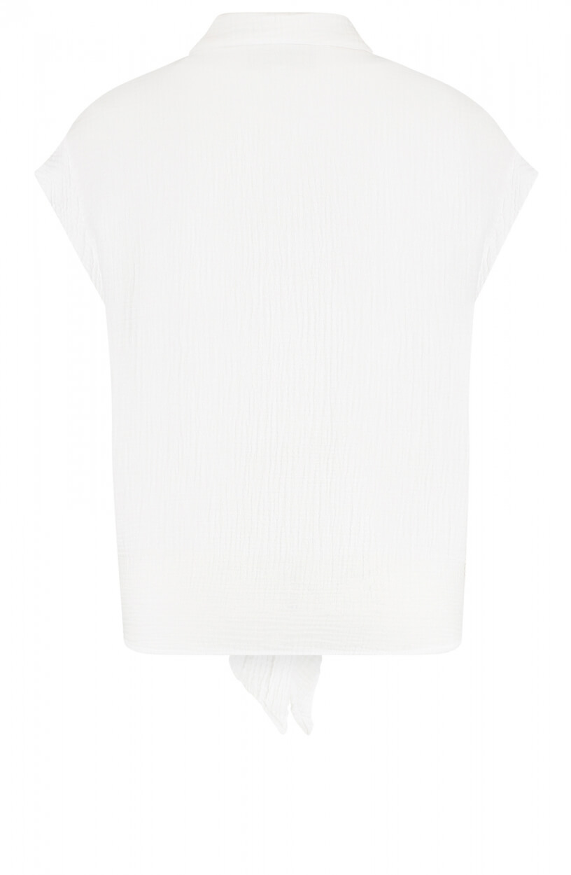 Penn & Ink Dames Knotted blouse Wit