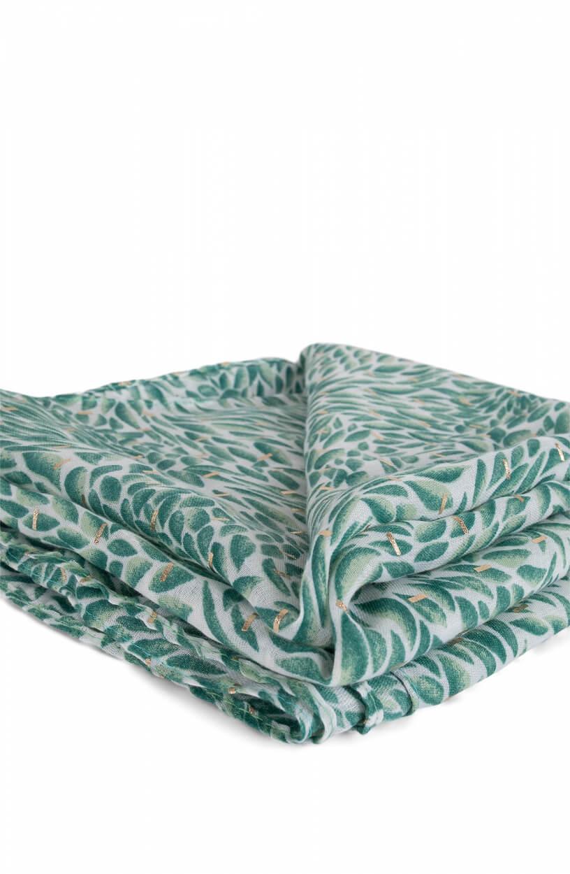 Zo Dames Sjaal met bladprint Groen