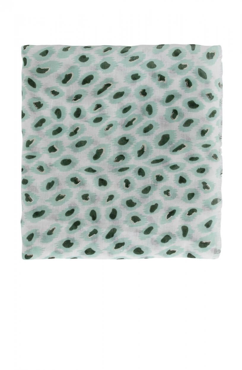Zo Dames Sjaal met panterprint Groen