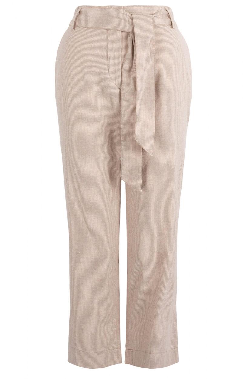 Gardeur Dames Gestreepte pantalon Bruin