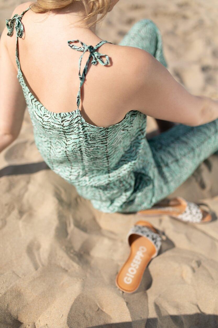 Anna Dames Jumpsuit met print Groen