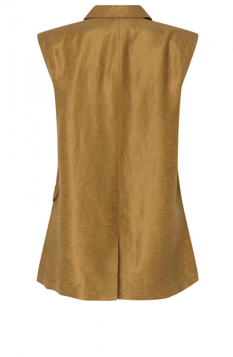 Second Female Dames Lia waistcoat Bruin