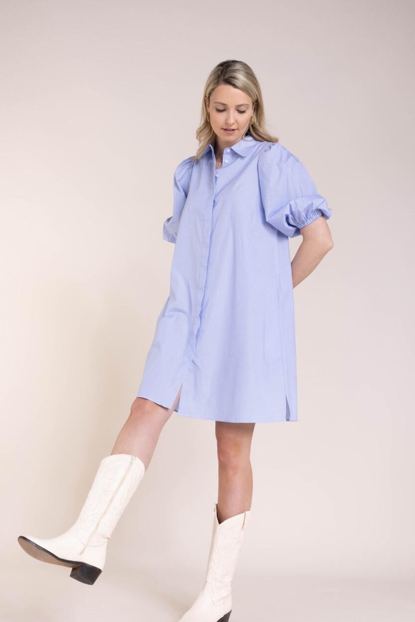 Second Female Dames Moscow jurk Blauw
