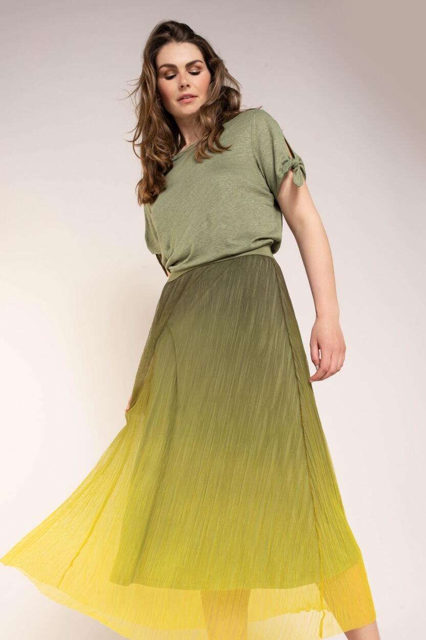 Anna Dames Rok met kleurverloop Groen