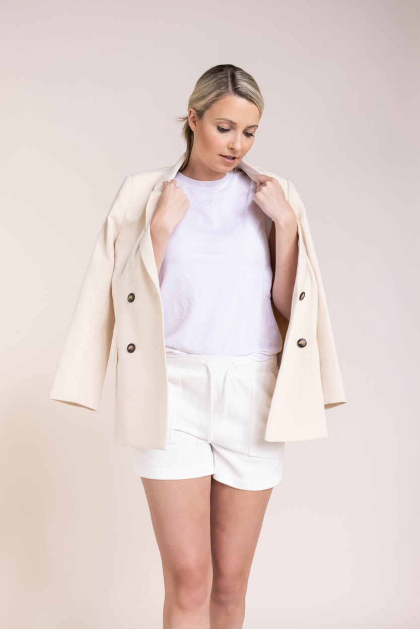 Co Couture Dames Double breasted blazer Wit