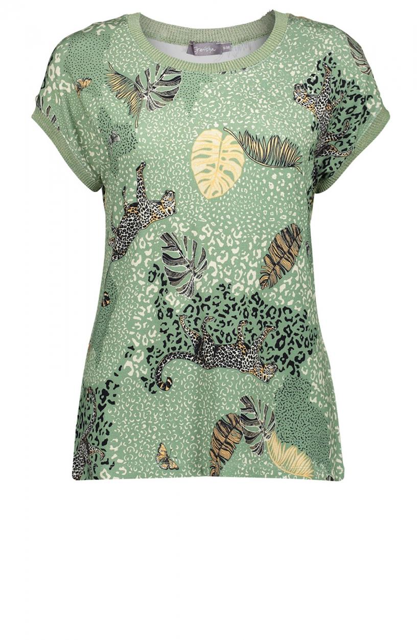 Geisha Dames Shirt met print Groen