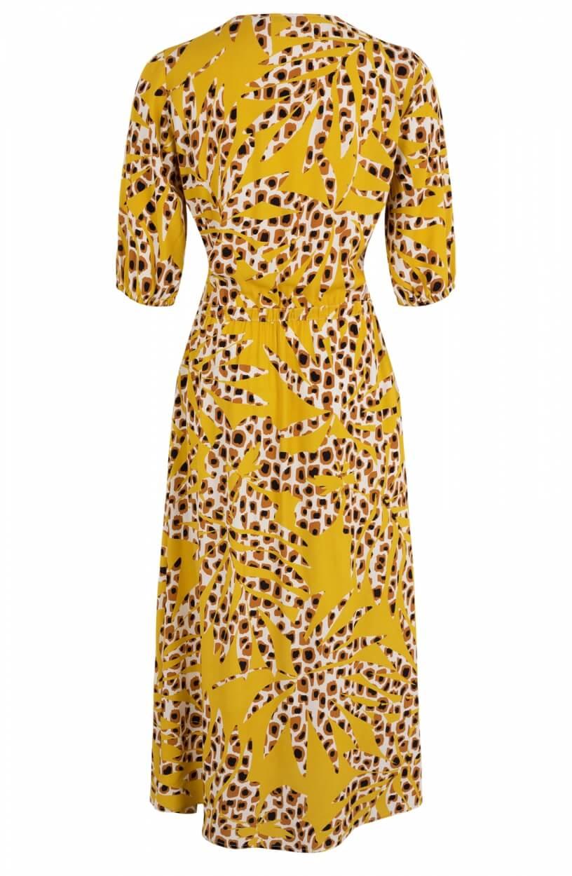 Anna Dames Maxi jurk met print Geel