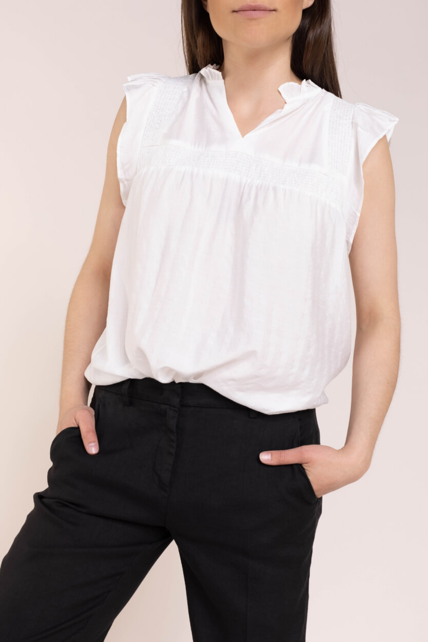 Co Couture Dames Mercer blouse Wit