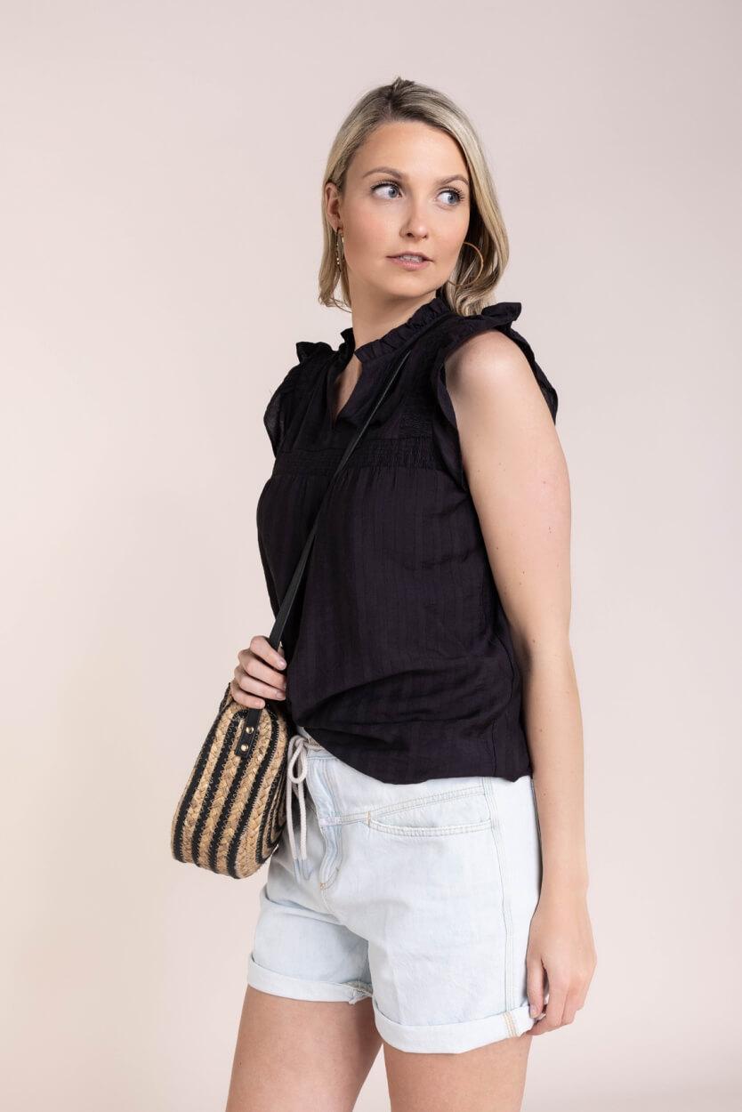 Co Couture Dames Mercer blouse Zwart
