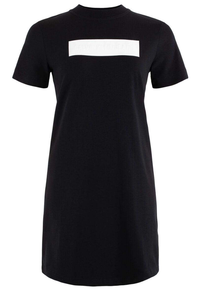 Calvin Klein Dames Jurk met logo opdruk Zwart