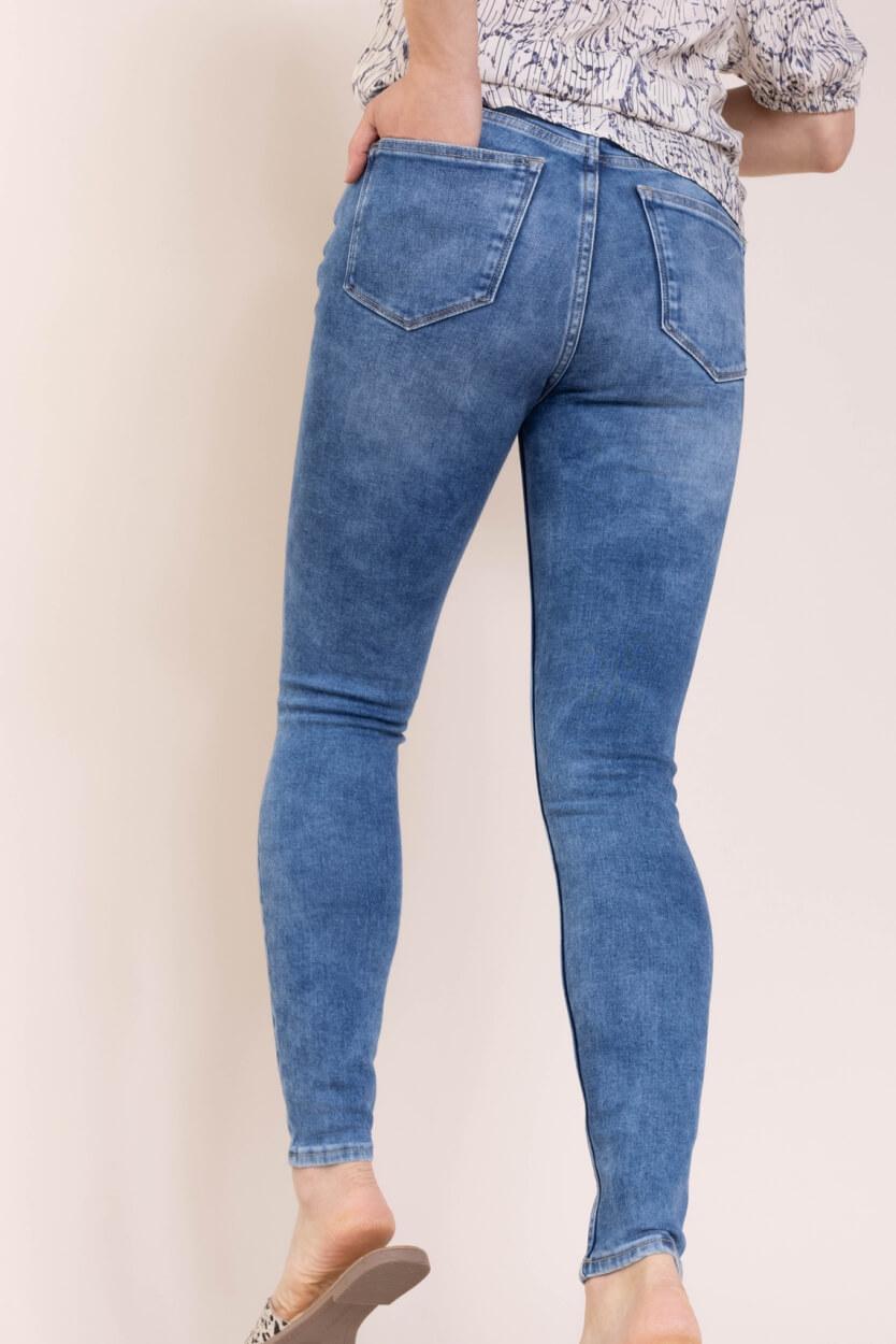 Calvin Klein Dames Super skinny jeans Blauw