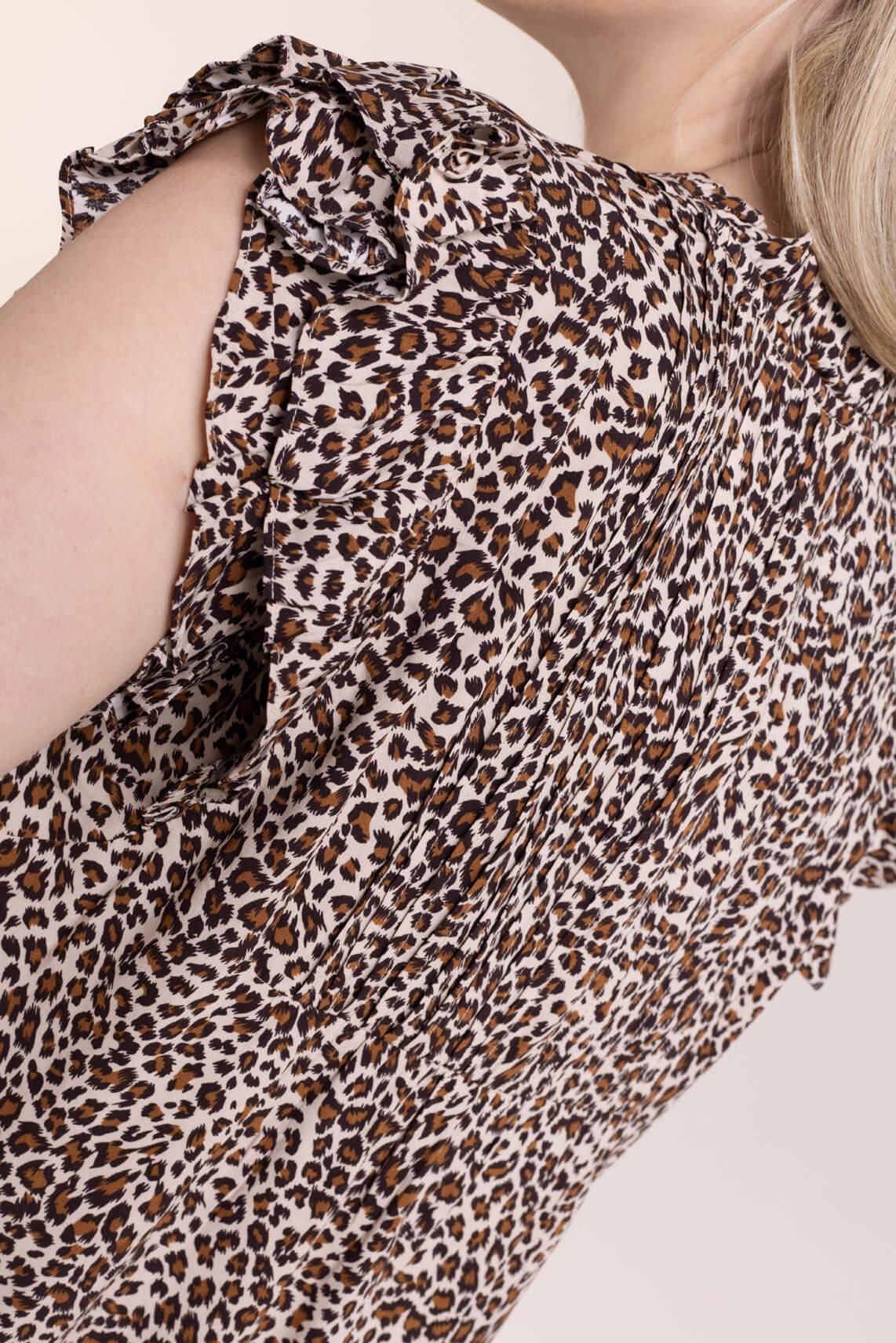 Co Couture Dames Leopard blouse Bruin
