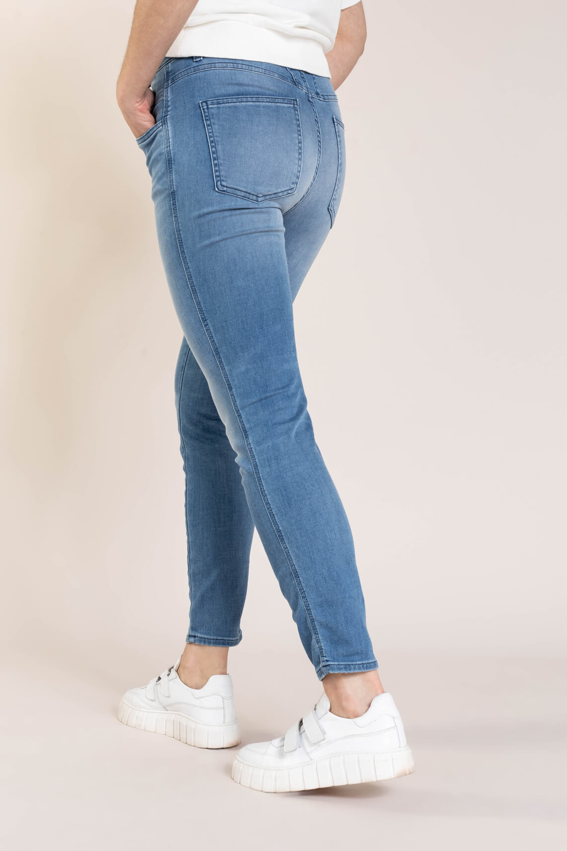 Closed Dames Skinny pusher jeans Blauw