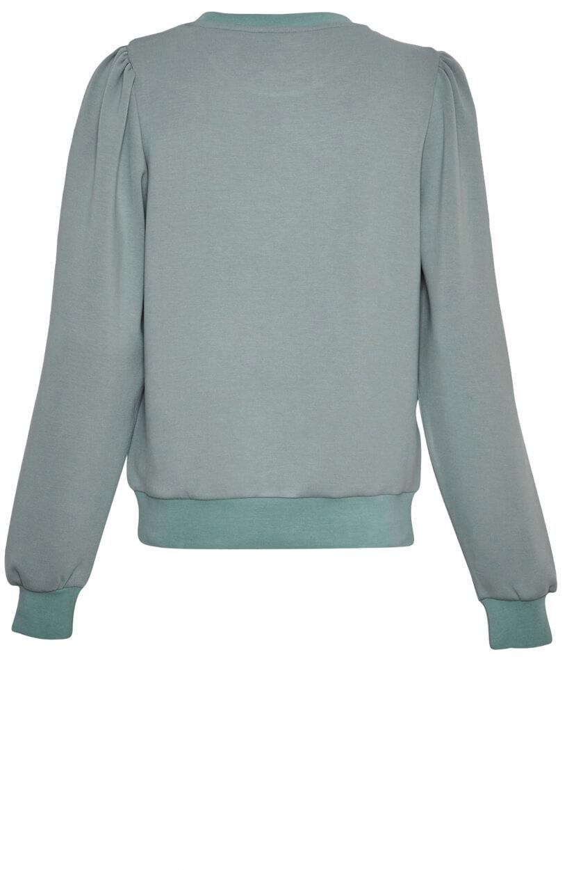 Moss Copenhagen Dames Ima puff sweater Groen