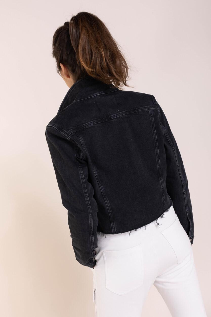 Calvin Klein Dames Denim jack Zwart