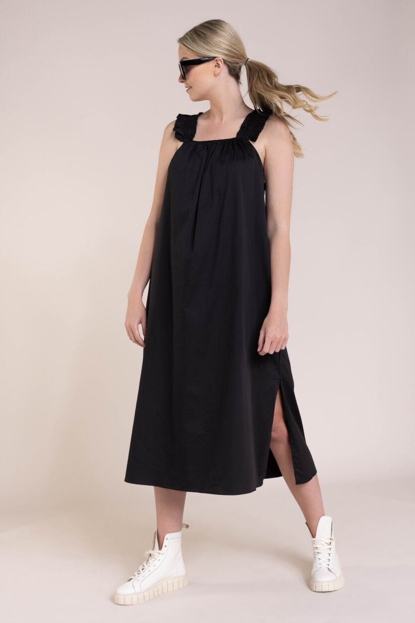 Levete Room Dames Isla jurk Zwart